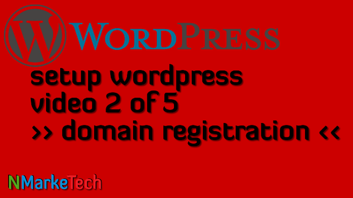 Setup Worrdpress 2of5-domain registration
