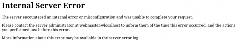 Internal Server 500 Error in WordPress