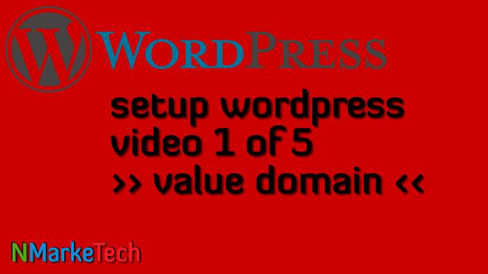 Setup Worrdpress 1of5-value domain
