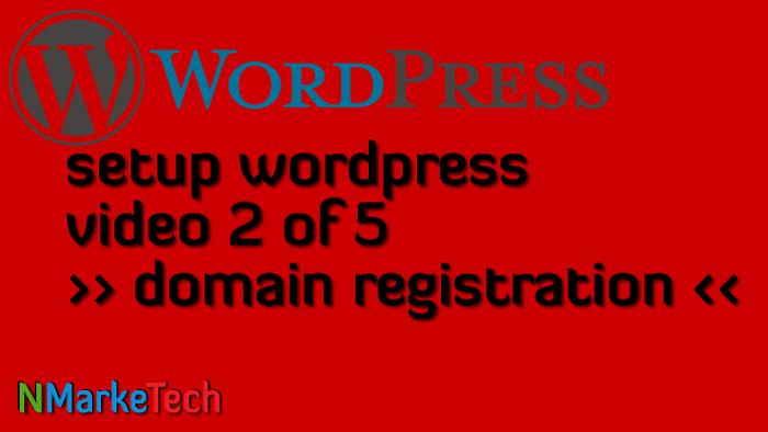 Setup Worrdpress 2of5-domain registration