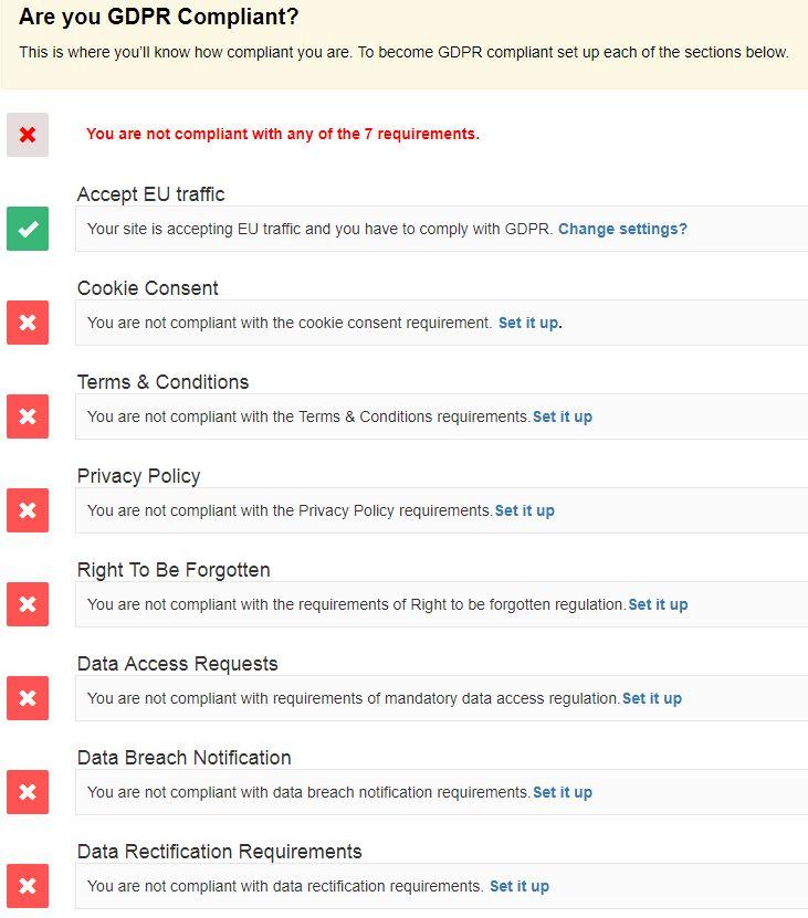 GDPR Plugin For WordPress